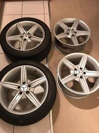 Mercedes 5x112 r18 AMG alloys 225/45