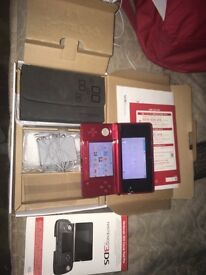 3DS metallic red and accessories