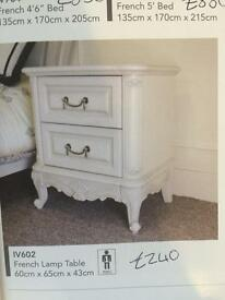 French lamp table bedside table new