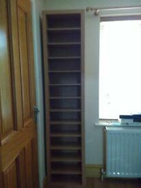 **CD/DVD Storage Tower - Oak effect**