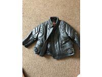 Kids unisex real leather bike jacket