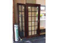 Rose wood pvc door and side light