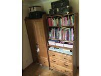 Nursary furniture ikea set of 3 bed/ wardrobe/changing table/ bookshelf
