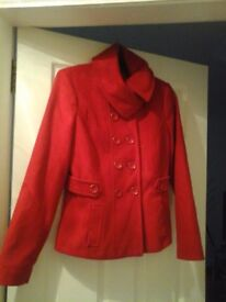 RED GEORGE AT ASDA JACKET SIZE 10 GOOD CONDITION