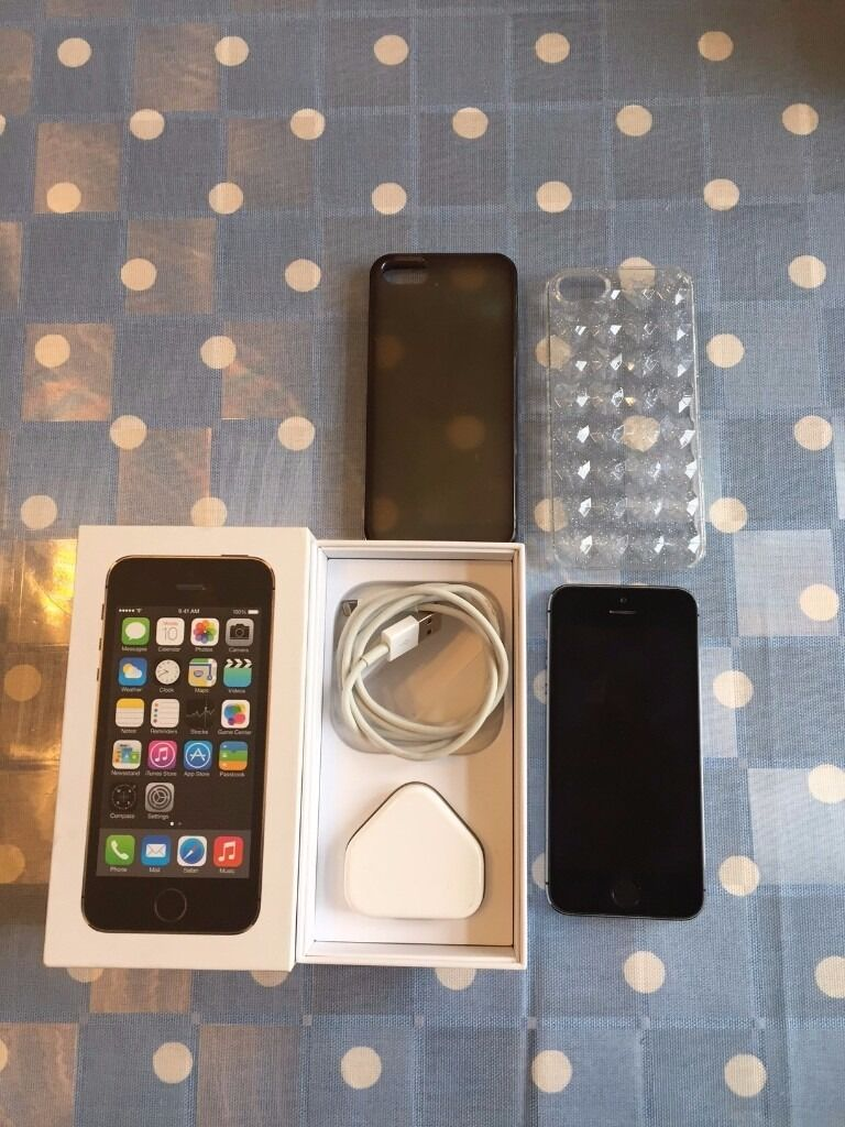 LIKE NEW IPHONE 5S 16GB SPACE GREY UNLCOKED (Boxedin Wimbledon, LondonGumtree - EXCELLENT CONDITION 9/10 APPLE IPHONE 5S 16GB SPACE GREY UNLOCKED TO ALL NETWORKS. Still boxed. Buyer collect from New Malden, Kingston, Please. Contact Leo on 07859190182, Thanks