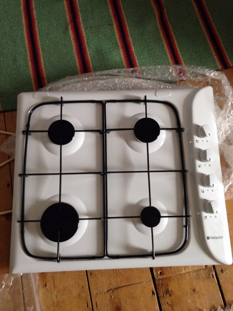 White Gas Hob by Hotpoint
