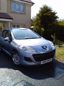 2010 Peugeot 207S SW 5 door in very good condition