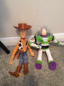 Buzz and woody interactive toys