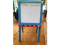 ELC magnetic easel and black/white board