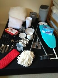 House Starter Pack inc crockery cutlery and iron