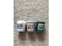 3 Yankee mini candles