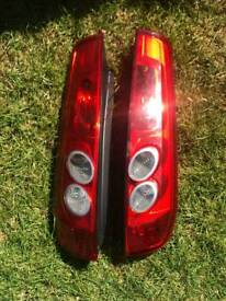 Ford Fiesta Zetec S back lights