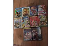 Bundle Of 10 children's dvd's