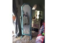 Shabby chic free standing mirror