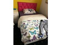 PINK BED WITH MATTRESS BRAND NEW