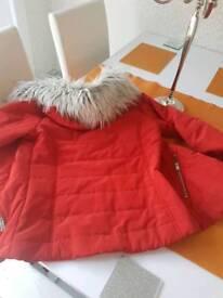 Girl tenagers winter coat