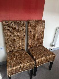 Cain Chairs x 2