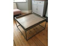 French Connection Tray Coffee Table - Wood and Iron