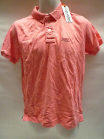 New Superdry Polo Top Pink Size M New with tag