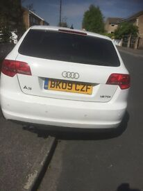 Audi A3 £3990 white one previous owner 136,000 miles