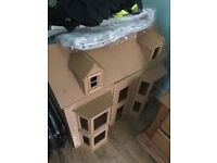Large Undecorated Dolls House. Perfect for a project.