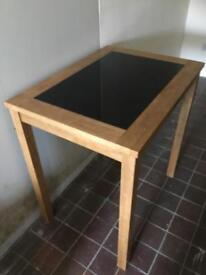 Wooden Table with marble top insert