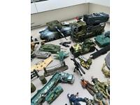 Collection of army toys