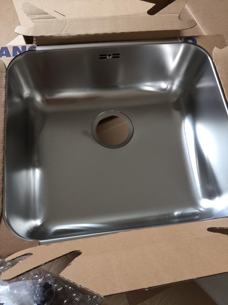 blanco stainless steel single bowl kitchen sink with plumbing kit