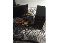 Gaming computer and monitor