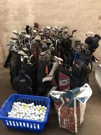 Golf Club Bundle & Gold Balls