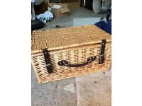Picnic hamper wicker basket