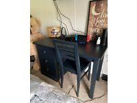 Aspace Children's Pedestal Desk & Chair - Prussian Blue