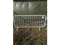 Crowd control barriers temporary site fencing