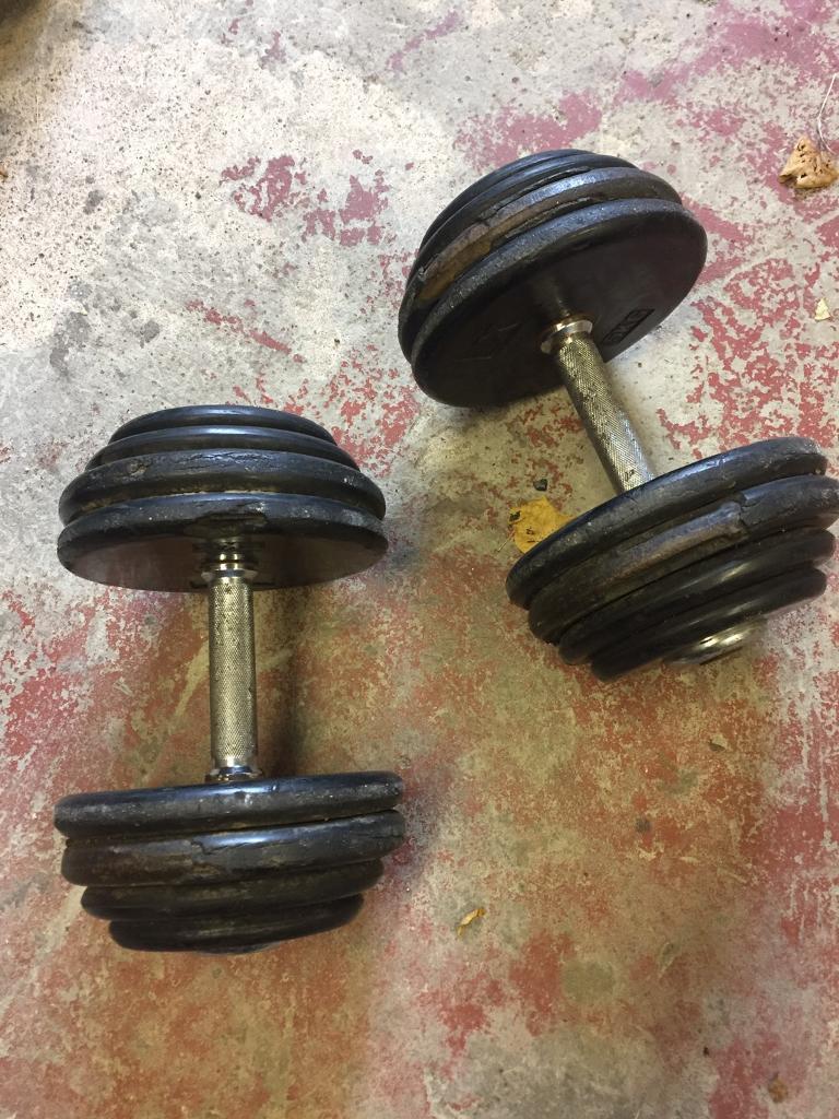 Weight training dumbells cast iron 60kg