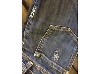 G star jeans 2 pair and 1 Versace girlsladies size 6/8
