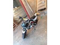 110cc road legal pit bike
