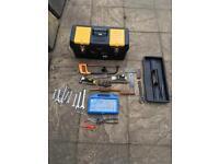 "24"" tool box and mixture of tools"