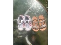Girls Adidas Trainers And Next Sandals