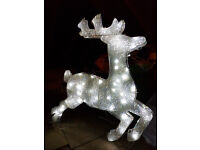 Outdorr light up reindeer with stand