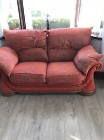 2+3 seater cloth sofa. Best offer. Must collect