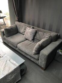Three seater Next Grey Sofa