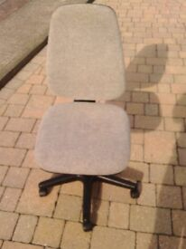 Operator's Office Swivel Grey Cloth Chair