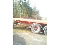 45 ft flat bed trailer (make york)