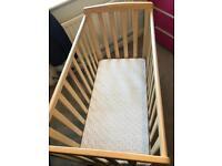 Compact Cot plus sprung mattress