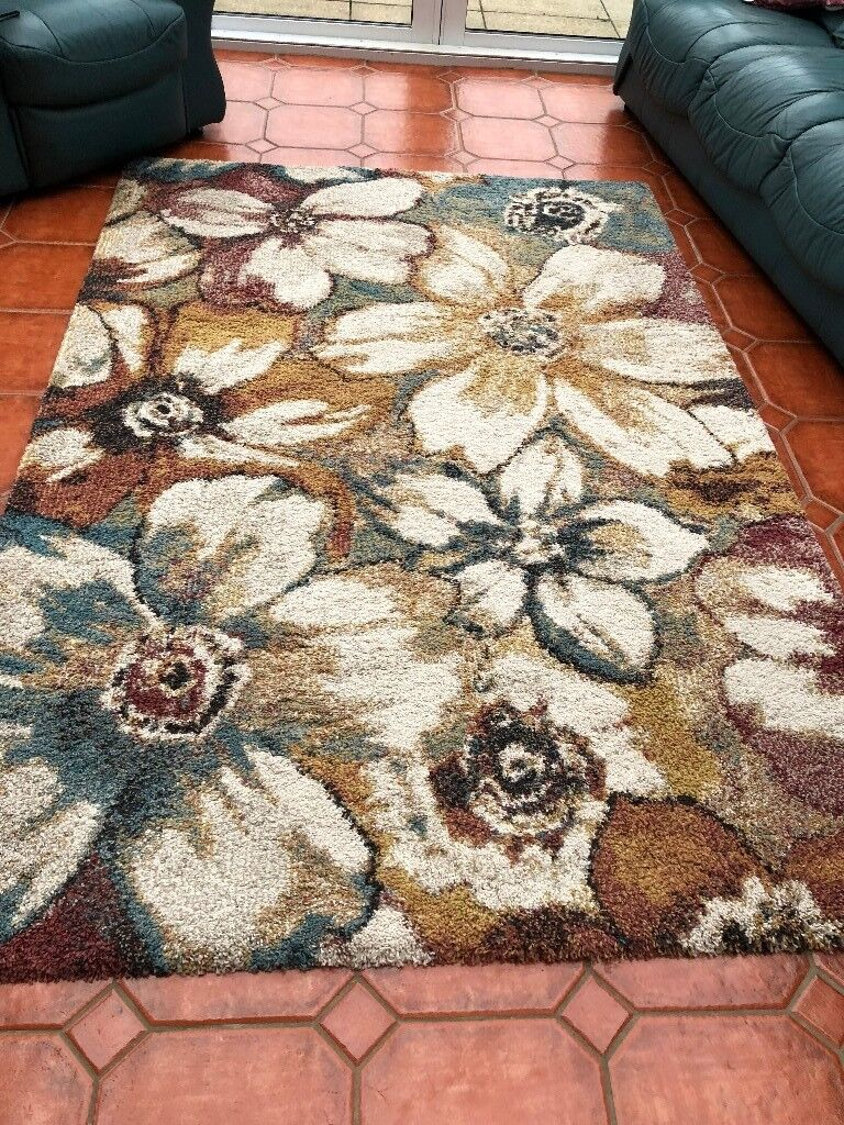 Rug Coloured Long Pile Very Good Condition From Aldiss