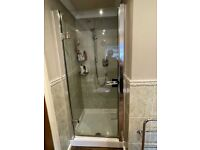 Matki Shower Door 900mm wide (10mm thick) and tray