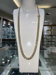 Brand New 10k Reversible Yellow Gold & Diamond Cut Cuban Link Chain 30 inches 8.5 mm 35 gr