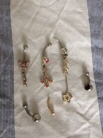 6 x belly button bars
