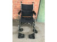 Drive Medical Transport Chair TR-39ESV In Black.