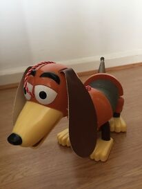 Toy Story pull along slinky dog. good condition